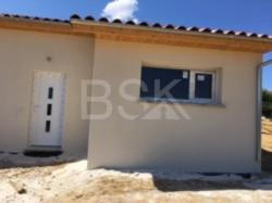 Projet construction  terrain + maison RT 2012 de 86 m²  avec garage de 23 m² sur 2500 m² à Margouët-Meymes  32290