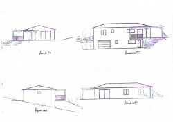 Projet de construction  terrain + maison RT 2012 de 132  m² avec garage de 40 m²  et cave de 23 m² sur 2500 m²  Margouët6 Meymes