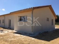 Projet construction  terrain + maison RT 2012 de 86 m²  avec garage de 23 m² sur 2500 m² à Margouët-Meymes 32 2900