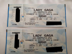 2 places concert lady gaga stade de france 25 juillet 2021