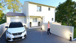 Maison neuve avec garage
