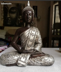 Statue Bouddha argenté