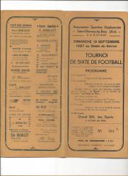 Saint-Etienne-du-Bois (01) Programme Dépliant de Tournoi de Football - 19 Septembre 1937 au Stade