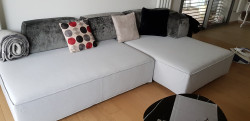 Canapé d'angle modulable design italien