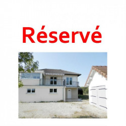 BLETTERANS (39), maison à vendre de 115 m² sur sous-sol, 3 chambres, garages, terrain 1410 m² clos