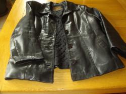 Veste en cuir femme