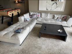Vente canapés, console, étagères et table basse
