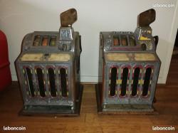 lot de deux anciennes machine a sous MILLS 1929/1931