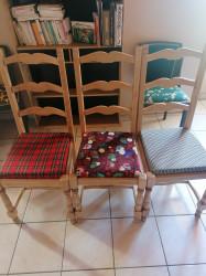 Lot de trois chaises
