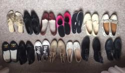 Lot complet de 14 paires de chaussures femme
