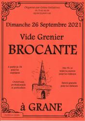Brocante - Vide grenier à Grane (26400) le dimanche 26 septembre 2021