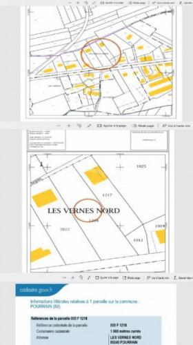 Terrain constructible de 1868 m²