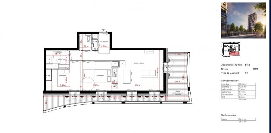 Magnifique T3 +grande terrasse - 23291