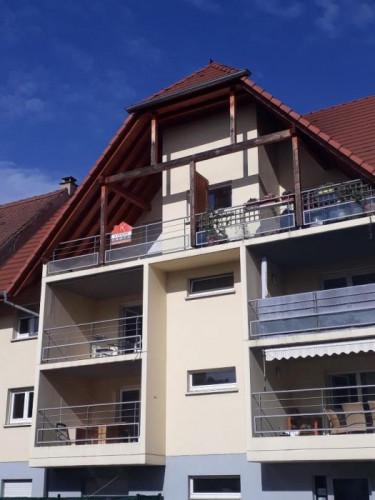 T2 45m2 Schiltigheim avec belle terrasse et box stationnement
