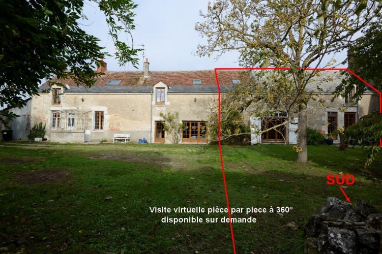Entre Blois et Mer maison demi longère de 160m2 sur 700m2 de