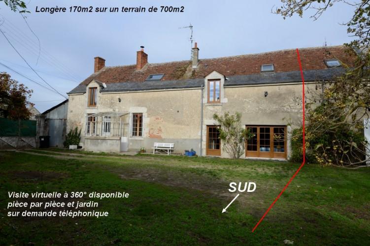 Entre Blois et Mer maison demie longère de 170m2  4 chambres