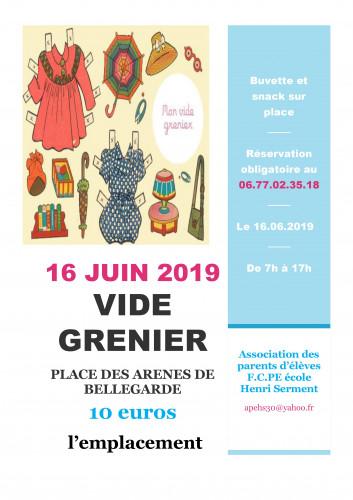 Vide-grenier FCPE école Henri Serment Bellegarde