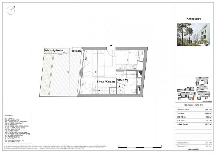 T2 Duplex au coeur du quartier St-Genès neuf