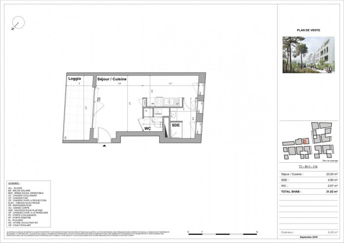 Bordeaux Saint-Genès Studio 31m2 + 9m2 loggia