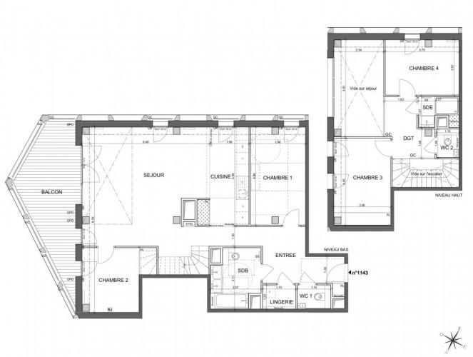Appartement  Duplex de 5 pièces - Paris 13