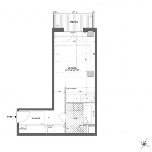 Appartement Studio - Paris 13