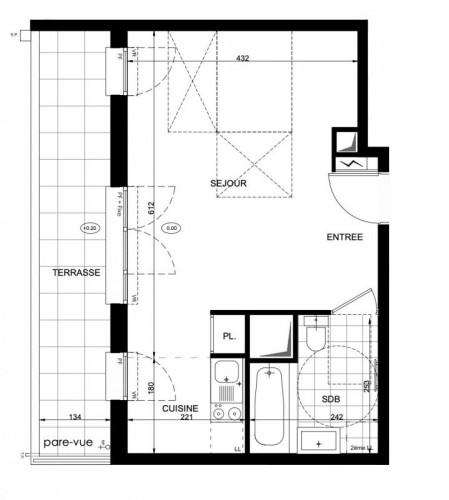 Appartement Studio Terrasse - Neuilly Plaisance