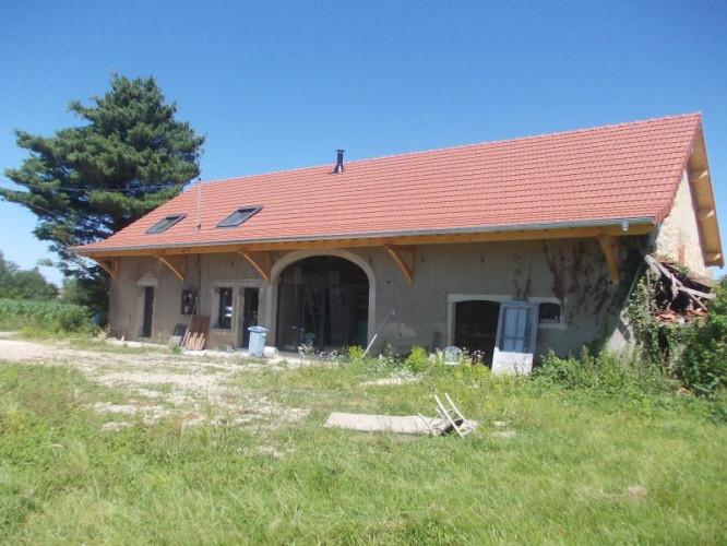 Chaussin (Jura), à vendre ferme en cours de transformation, 6 pièces, sur 4,2 HECTARES de terrain