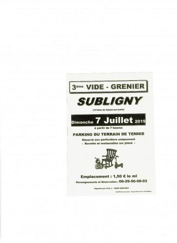 VIDE GRENIER SUBLIGNY 18260