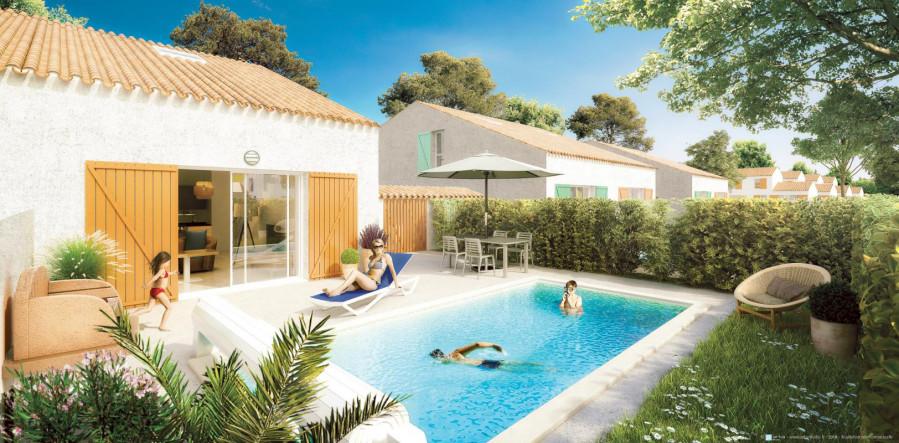 Villa T4 avec piscine chauffée proche Océan à Olonne sur Mer (85)