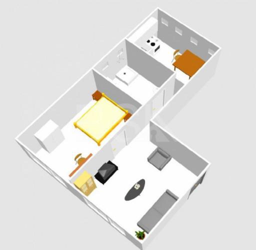 APPARTEMENT T2, 44 M² , (Ex-local commercial à meubler) CENTRE VILLE, RENDEMENT IMPORTANT