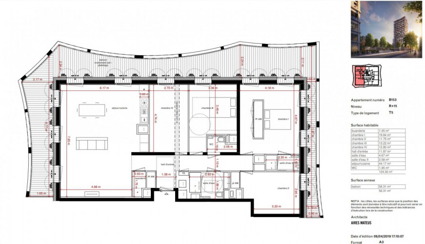 Magnifique T5 +grande terrasse - 23292