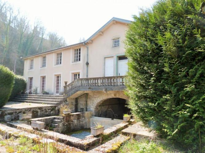 Entre Lons-le-saunier et Bourge-en-Bresse, vends propriété de caractère comprenant 2 logements