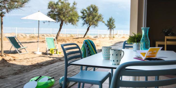 Appartement de 51 m² avec terrasse bordant la plage et la mer Méditérranée
