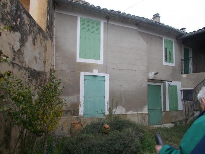 Uzès proche, maison de village 180 m2 + cour