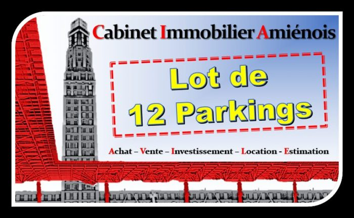 Amiens : Lot de 12 parkings !